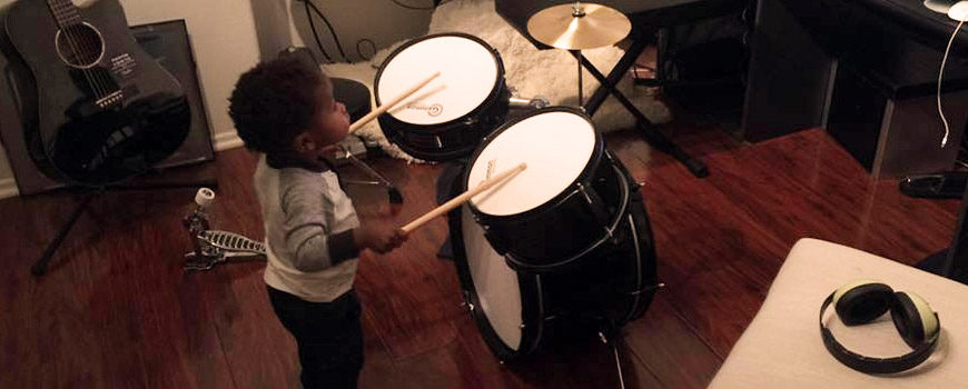 One year old prodigy drummer