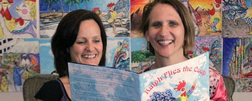 Ralph Flies the Coop authors Jaimie Scanlon and Ellen Tumavicus