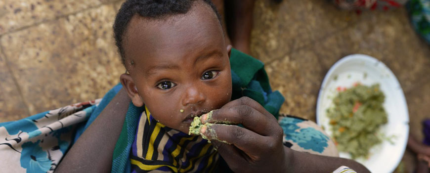 Five in six children under two not getting enough nutrition