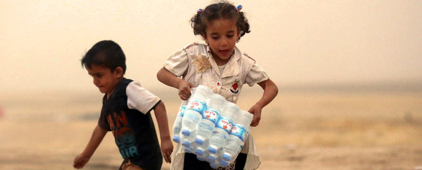 Almost half of Mosul's children cut off from clean water